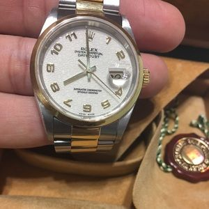 Rolex Datejust Two Tone Jubilee Anniversary Dial